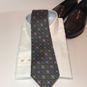 Robert Talbott Nordstrom Black Silk Tie